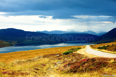 Highlands landscapes in Scotland