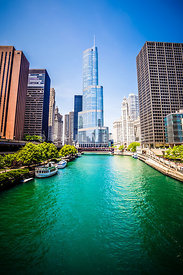 Photo of Downtown Chicago with Trump Tower