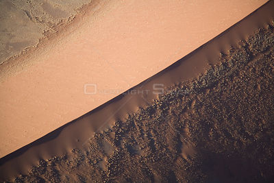 Aerial view of a sand dune in Sossusvlei, Namibia
