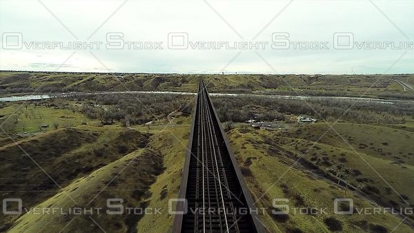 Lethbridge Alberta Train Bridge