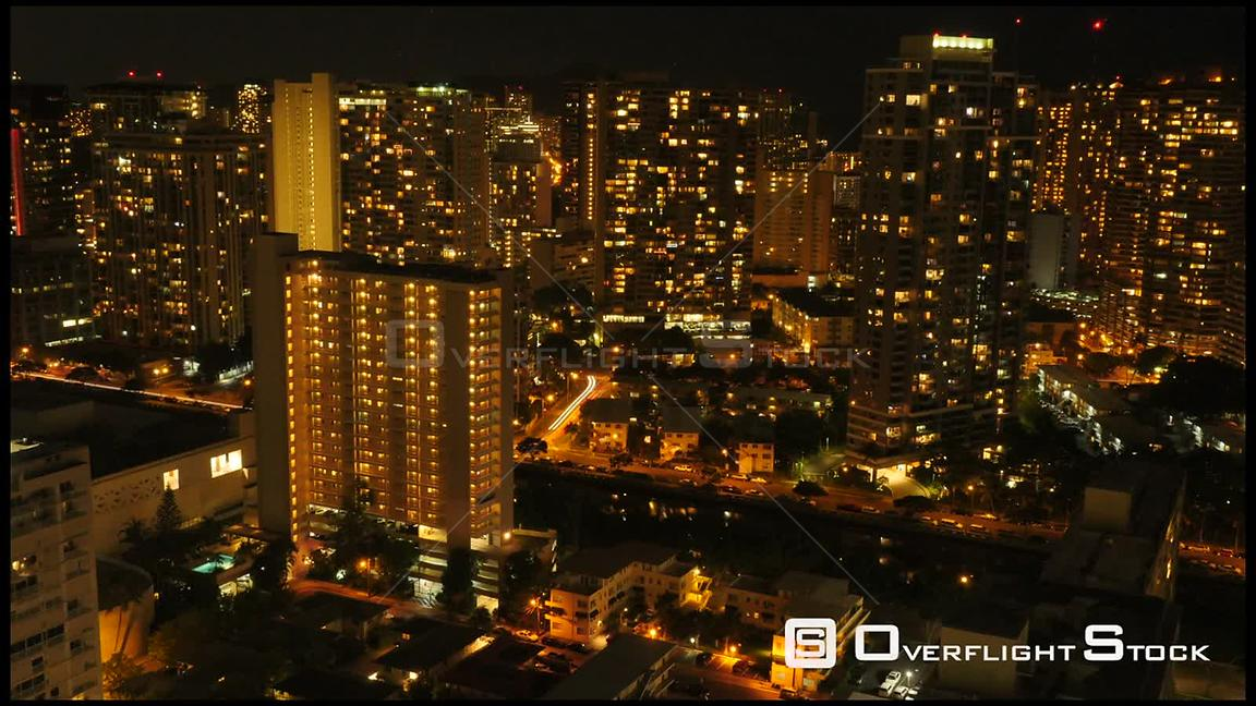 Nighttime TimeLapse Honolulu Hawaii