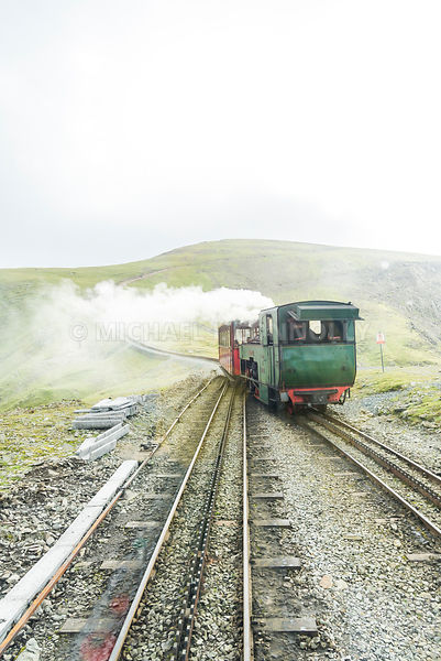 Steam Engine On Mt. Snowdon- Gwynedd Area, Wales
