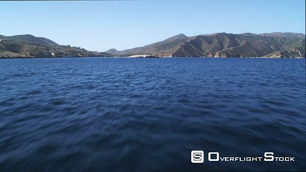 Over Open Ocean, Approaching Isthmus Cove on Catalina Island.