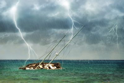 Shipwreck in Tropical Storm