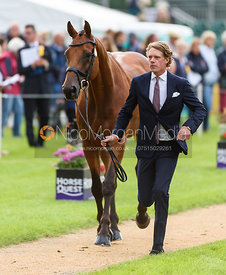 Ludwig Svennerstal and STINGER at the trot up, Land Rover Burghley Horse Trials 2018