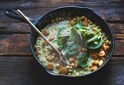 Coconut curried chickpeas with carrots & cashews Gluten-free, vegan.