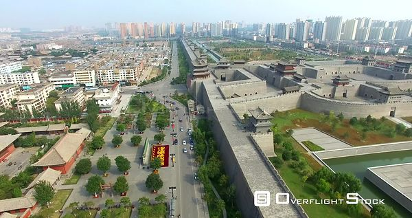 City Wall of Datong City, Shanxi China