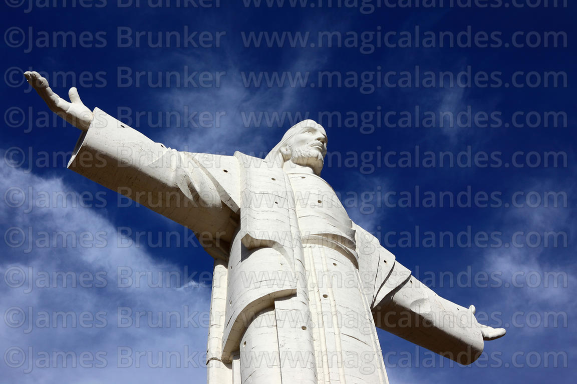 Magical Andes Photography Cristo De La Concordia Statue Against