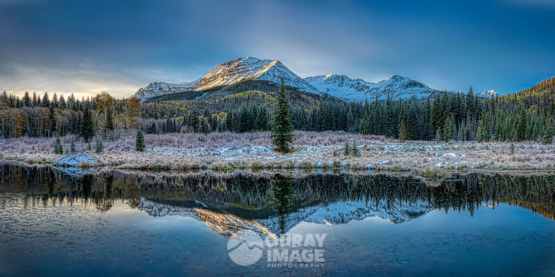Winter Reflection, Wilson Peak - Large Print Option