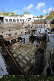 A tannery in the medina quarter of Fez, Morocco, December 2010.