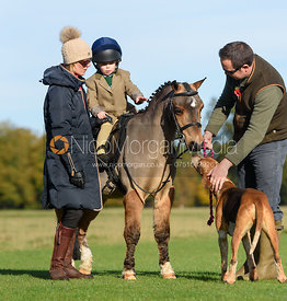 Family group at the meet - Fitzwilliam Hunt Opening Meet 2016