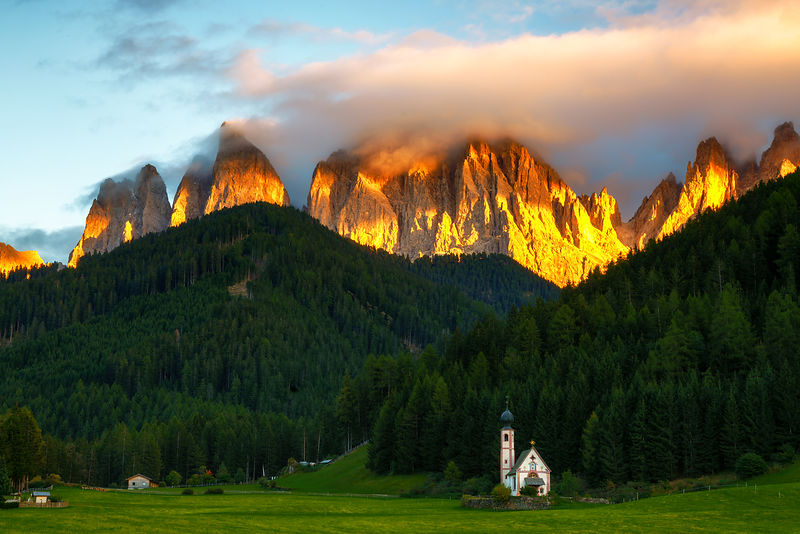Dolomites on Fire