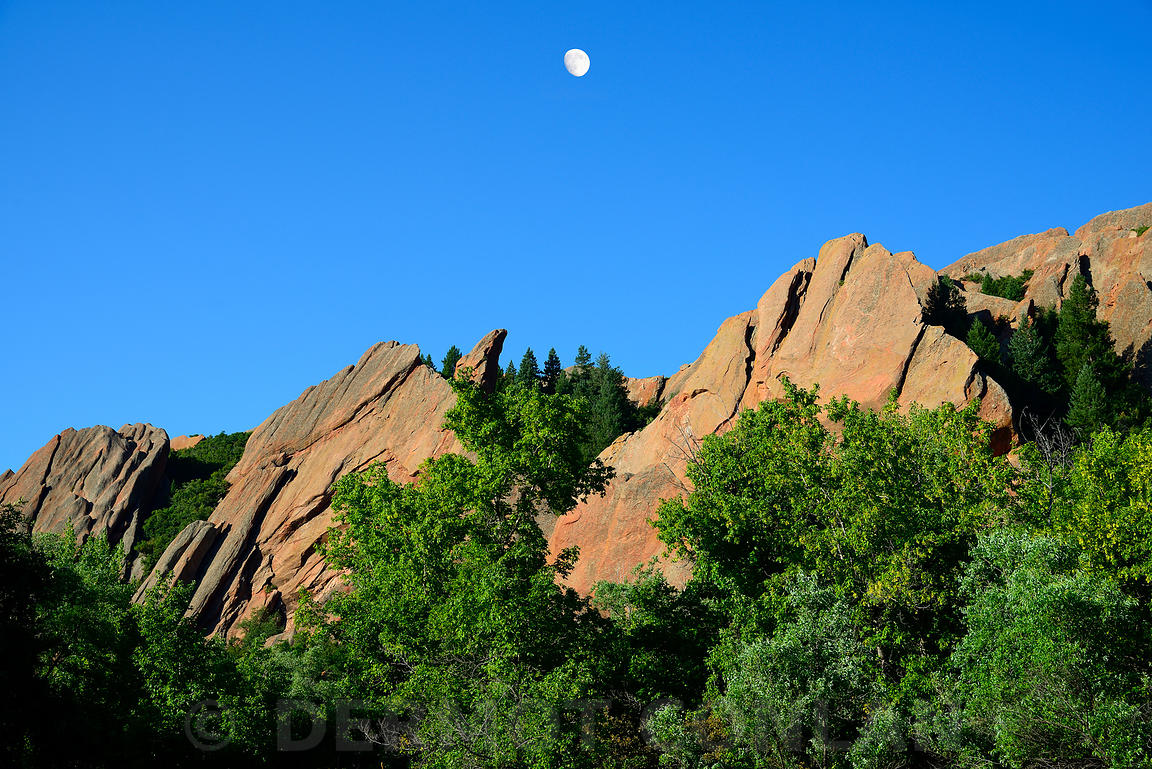 Moon over Roxborough State Park, Colorado
