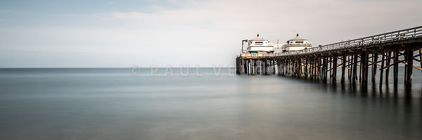 Malibu Pier Panorama Photo in Southern California