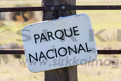 Sign of National Park