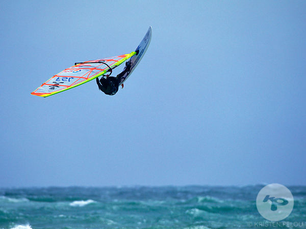Windsurfing in Gavres, Brittany, France