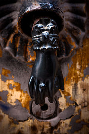 Knocker in old Clermont-Ferrand