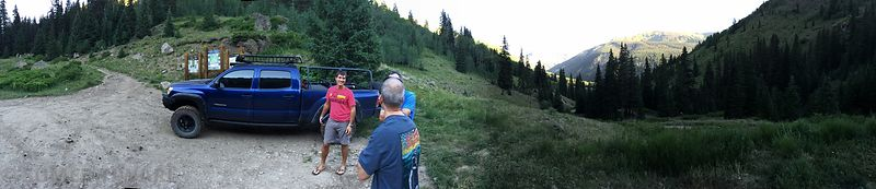 At the trailhead of Wetterhorn Peak