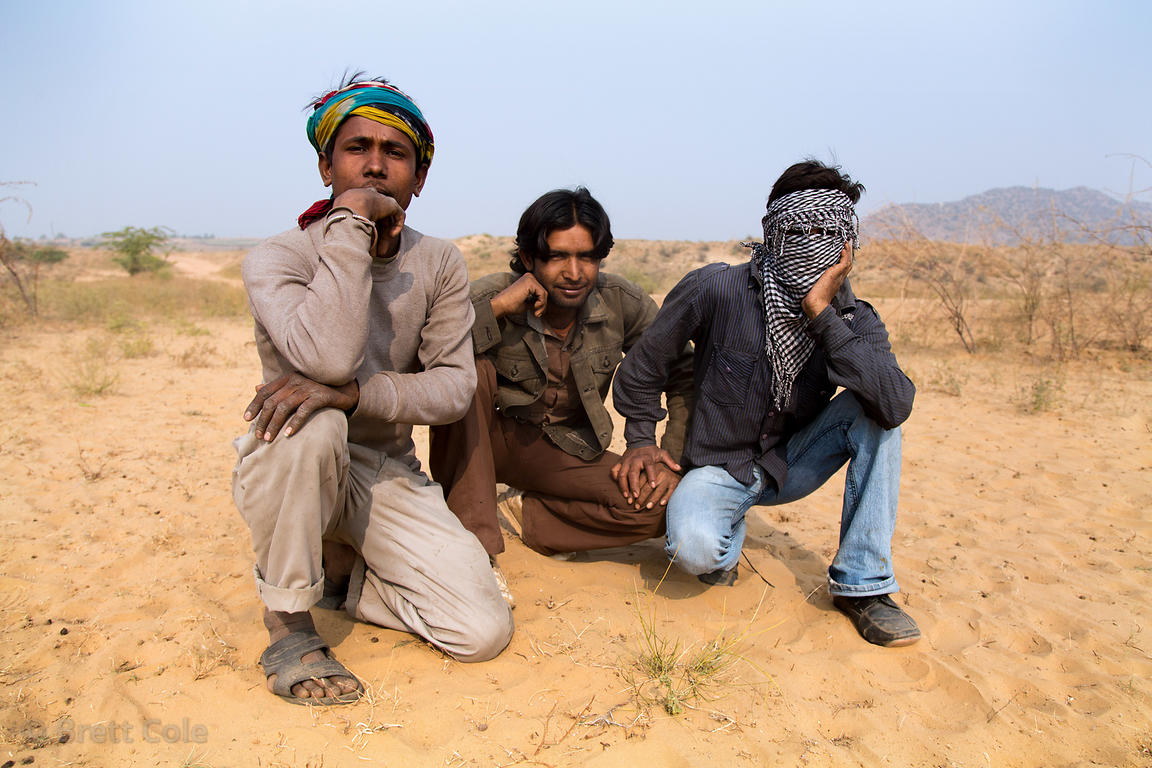 Young vegetable farmers in the desert, Surajkund village, Rajasthan, India
