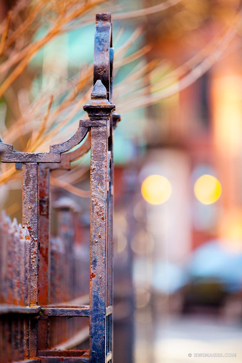 OLD IRON FENCE HISTORIC BOSTON COLOR VERTICAL