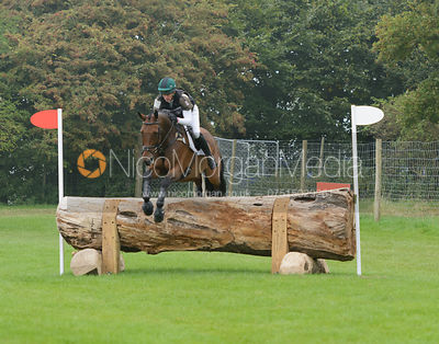 Jim Newsam and MAGENNIS - cross country phase,  Land Rover Burghley Horse Trials, 6th September 2014.