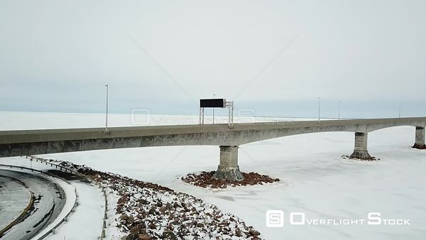 Prince Edward Island Canada Confederation Bridge New Brunswick Winter Ice