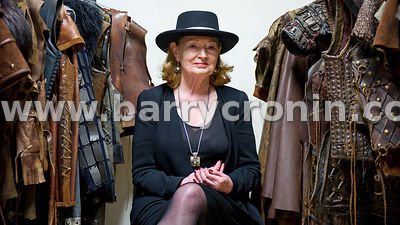 28th May, 2014 - Costume designer Joan Bergin who has three Emmys under her belt photographed in Ashford Studios, Ashford, Co...