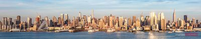 High resolution panoramic of midtown Manhattan skyline, New York city