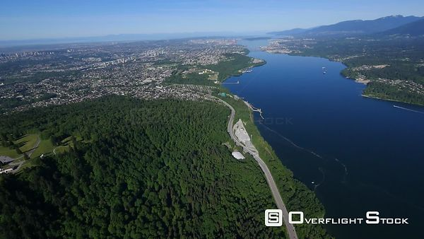 North Side of Burnaby Mountain Burrard Inlet