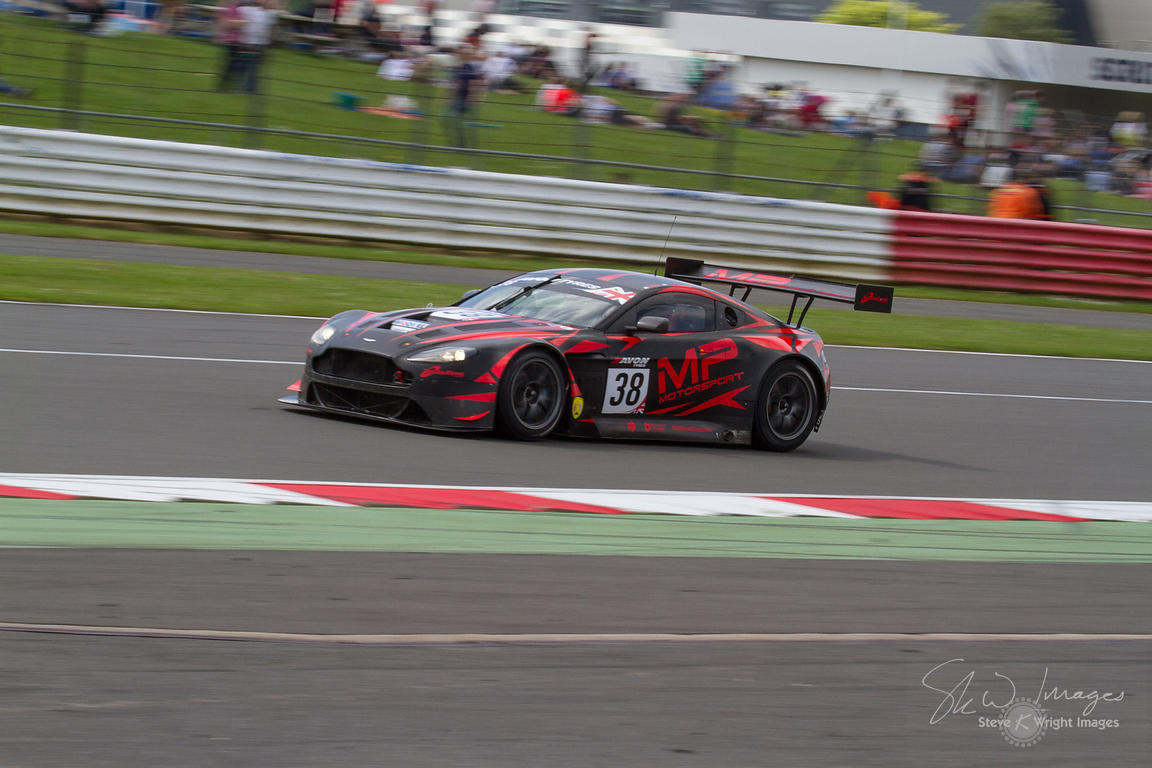 MP Motorsport's Aston Martin Vantage GT3 in action at the Silverstone 500 - the third round of the British GT Championship 20...