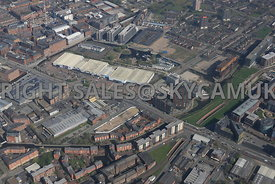 Great Ancoats Central Retail Park and Oxygen Tower development area of north Manchester