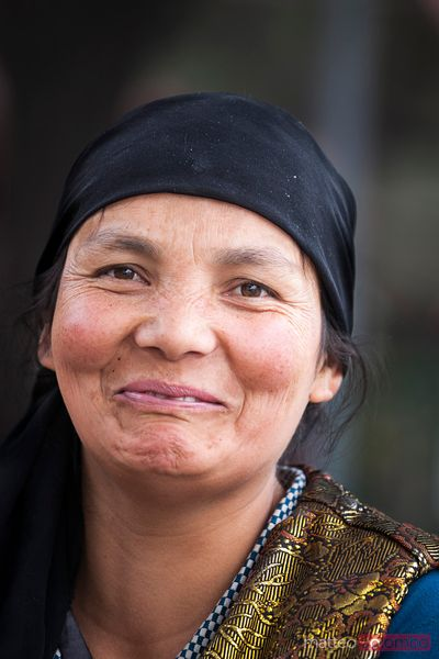 Portrait of uighur woman in Kashgar, Xinjiang, China