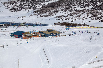 Falls Creek ski resort in Victoria, Australia.