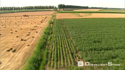 Low flight over cropland and hayfields near Zwijndrecht, Belgium