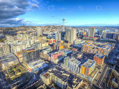 Seattle Washington Skyline Space Needle