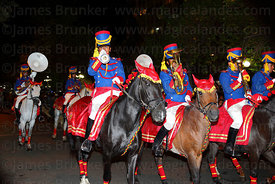 Army cavalry regiment during parade to mark the start of events for Dia del Mar / Day of the Sea , La Paz , Bolivia