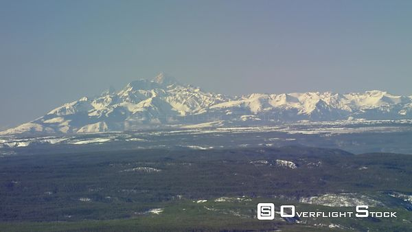 Snow-capped peaks in Yellowstone National Park