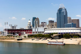 Cincinnati Ohio Skyline and Riverfront