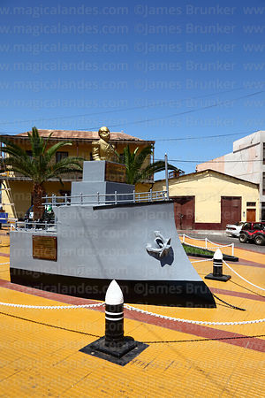Monument to Admiral Miguel Grau and his warship Huascar, Ilo, Peru