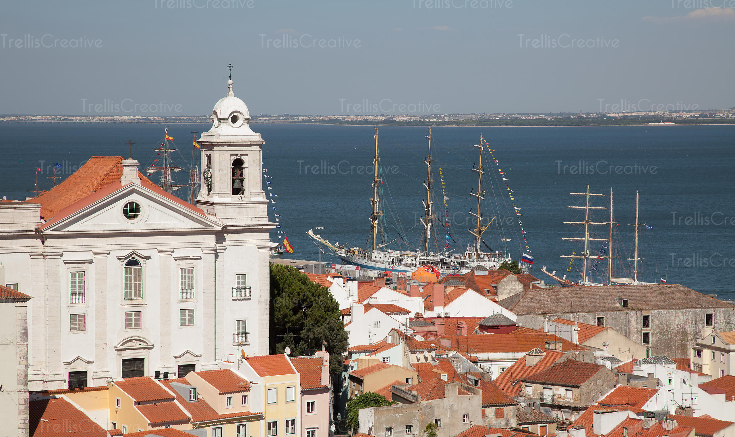 The port town of Lisbon, Portugal