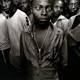 Juvenile members of the Interehamwe. Gitagata Prison, Rwanda