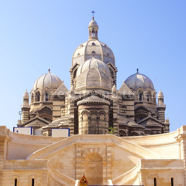 Marseilles Cathedral or La Major Cathedral on a sunny day