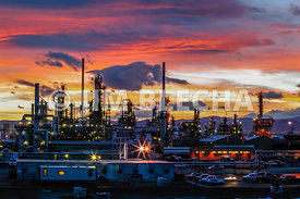 Colorado Refinery at Sunset