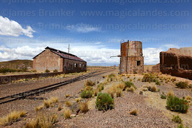 Disused railway station in General Pando, La Paz Department, Bolivia