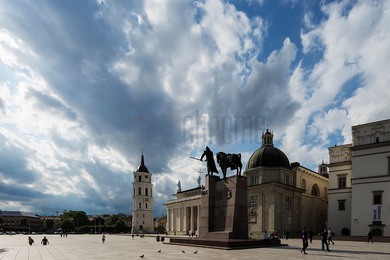Vilnius Cathedral & Belfry, Statue of Vytautas, the Grand Duke of Lithuania