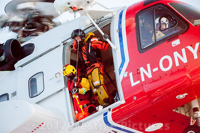 Bristow operated Norwegian Search and Rescue Helicopter Service - Northern Norway Royalty free stock photo library