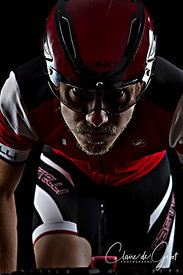 Dark Cycling Studio Sports Portrait