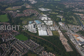 Manchester high level view of the Agecroft Industrial Estate Agecroft Manchester