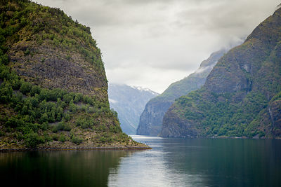 Rugged Mountains in Norwegian Fjord