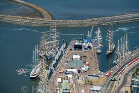 Harlingen - Luchtfoto Tall Ships Races 1